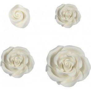 Soft Sugar™ White Handmade Edible Roses Range