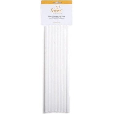 0.8cm x 30cm Plastic Dowelling Rods for Tier Cakes, Pack of 8
