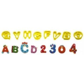 Alphabet & Number Cookie/Fondant Cutters 2 x 1.6cm - Set of 36