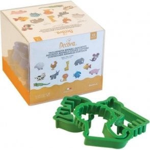 Assorted Animals Cookie/Fondant Cutter - Set of 12