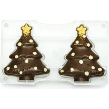 Christmas Tree Polycarbonate Chocolate Mould 121mm 275 X 150 X 175 X 22mm