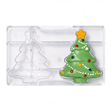 Christmas Tree Polycarbonate Chocolate Mould 85X105X20mm