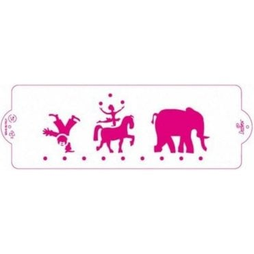 Circus - Cake Decorating Stencil 10 x 30cm