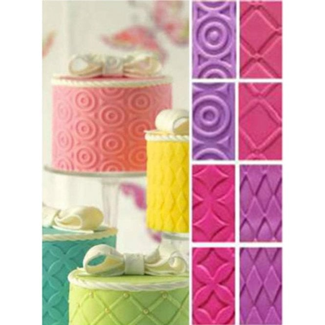 Decora Fashion Decorative Texture Impression Mat Sheets, Pack of 4