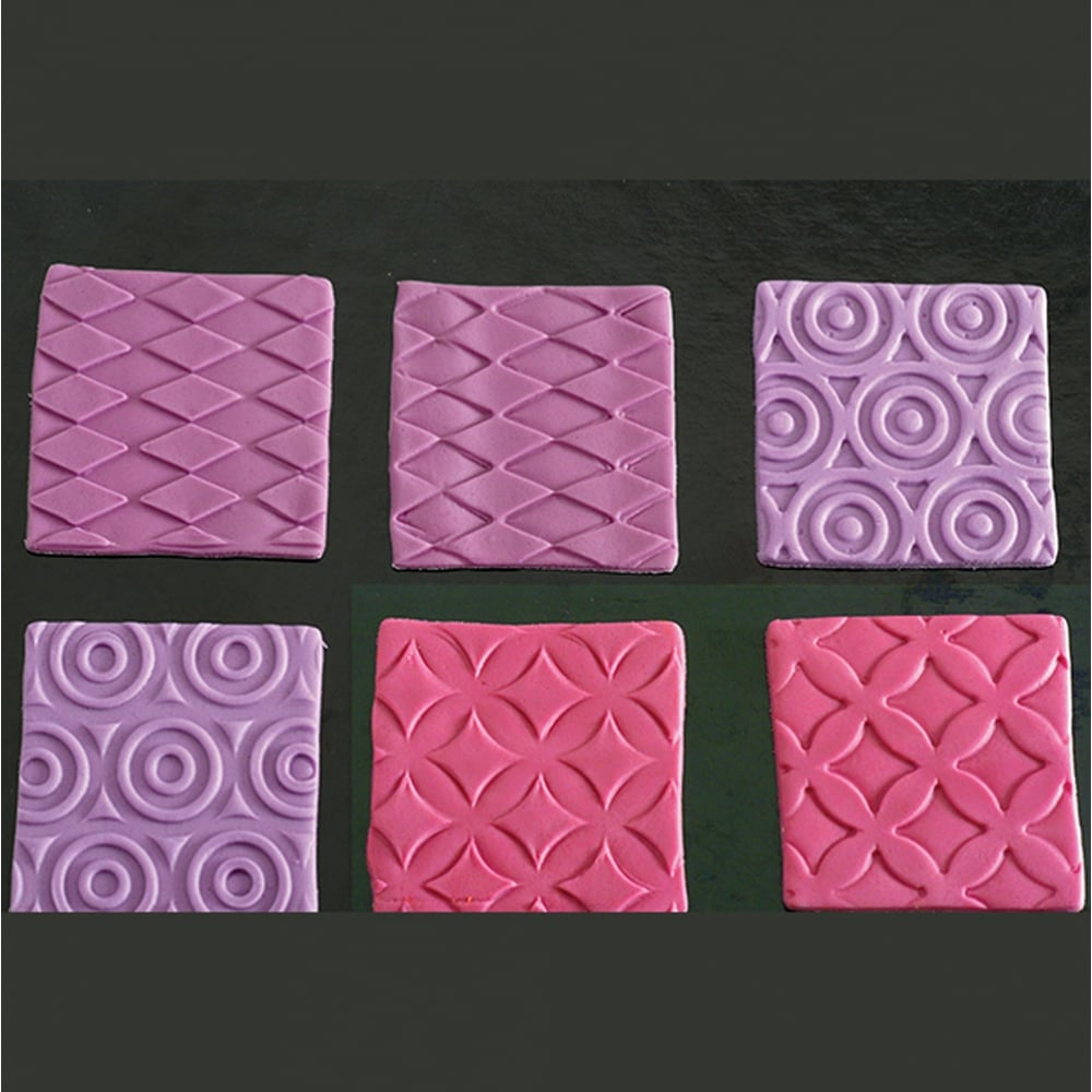 Fashion Decorative Texture Impression Mat Sheets Pack Of 4