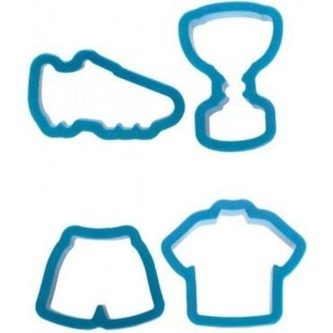 Football Fondant/Icing Cutters - Kit of 4