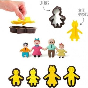 Happy Family Cutter with Textured Effect - Set of 8 pieces