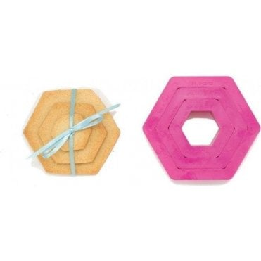 Hexagon Cookie/Icing Cutters, Set of 3