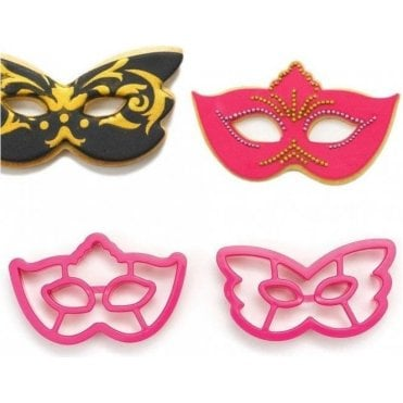 Mask Cookie/Fondant Cutter - Set of 2