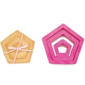 Pentagon Cookie/Icing Cutters, Set of 3