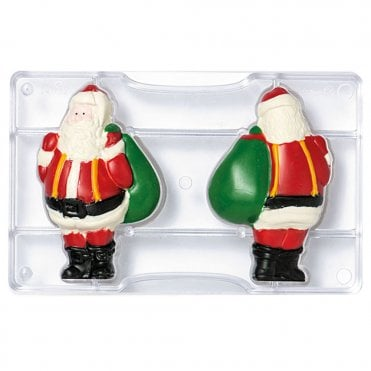Santa Claus Polycarbonate Chocolate Mould 99x150x25mm