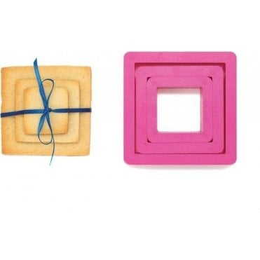 Square Cookie/Icing Cutters, Set of 3