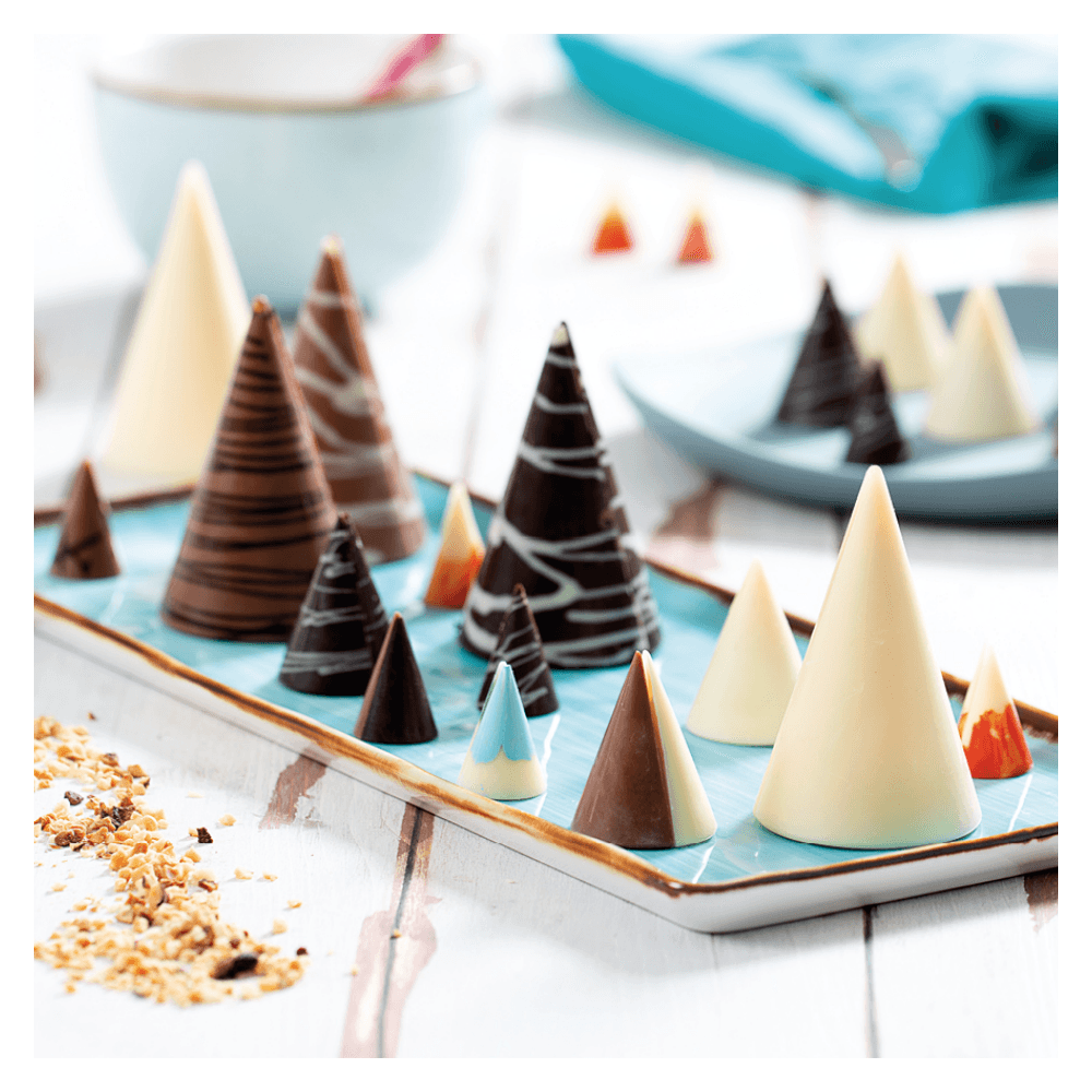 Decora The Small Cones Polycarbonate Chocolate Moulds