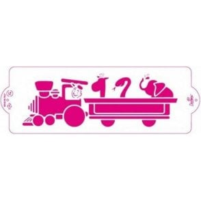 Train - Cake Decorating Stencil 10 x 30cm