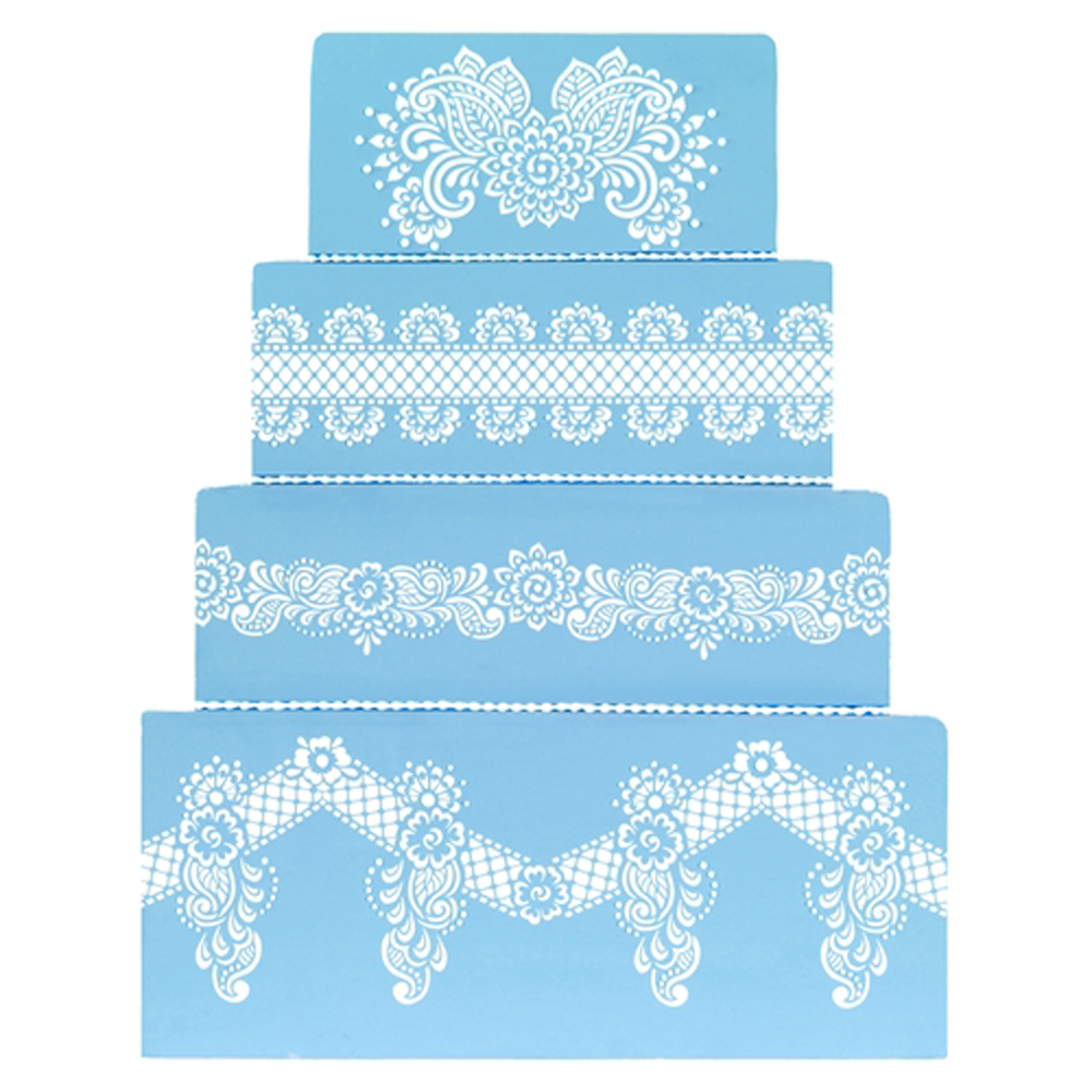 Chelsea Lace Henna Cake Decorating Stencil By Designer Stencil