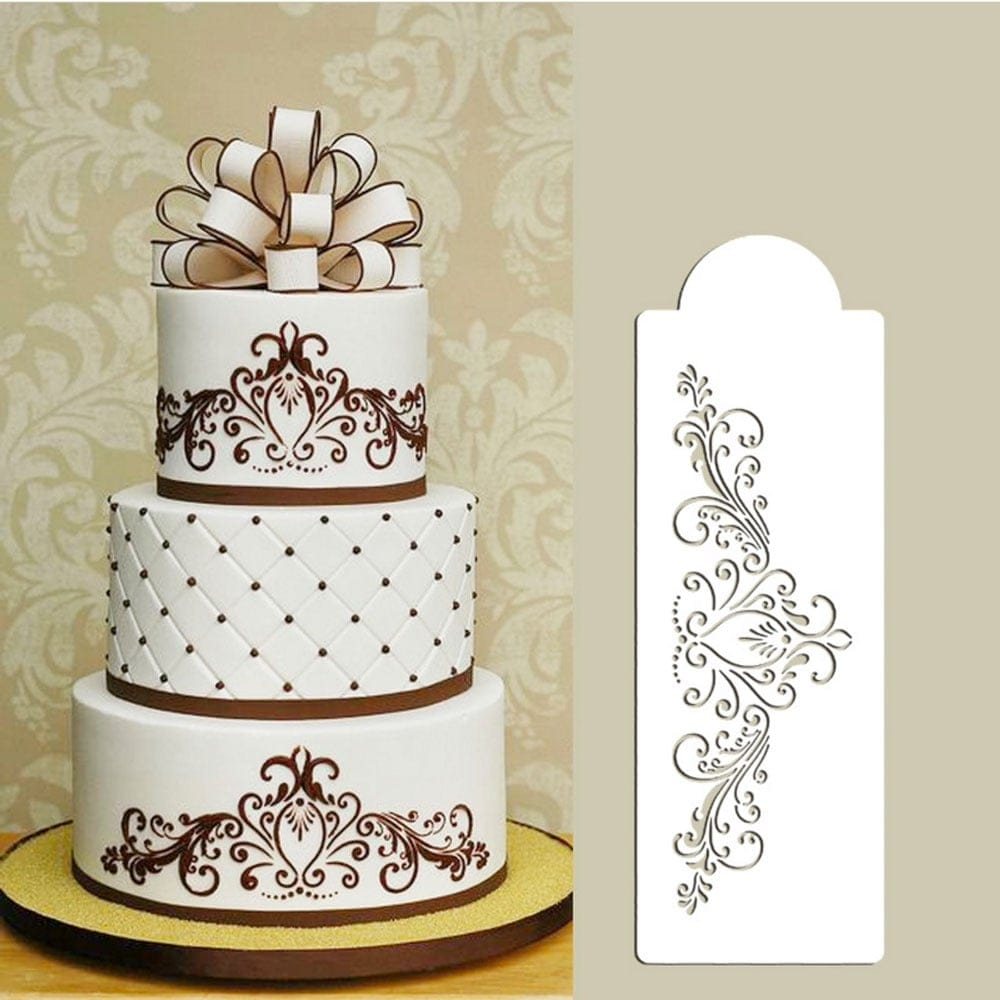 Scroll Stencils And Pens For Cake