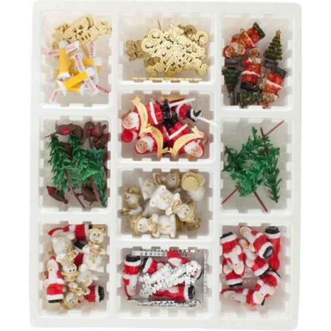 75 Piece Assorted Christmas Decorations, In A Display Box