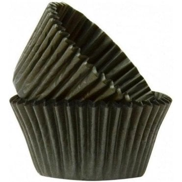 Black 50 Muffin Cases -Professional Quality Baking Cases