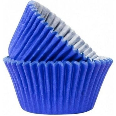 Blue 50 Muffin Cases -Professional Quality Baking Cases