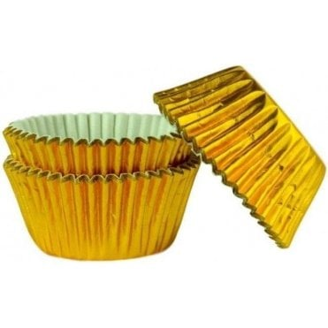 Gold Foil 45 Muffin Cases -Professional Quality Baking Cases