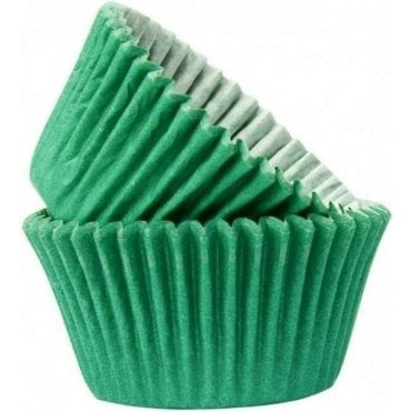 Green 50 Muffin Cases -Professional Quality Baking cases