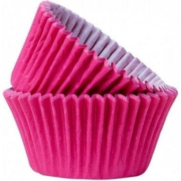 Hot Pink 50 Muffin Cases -Professional Quality Baking Cases