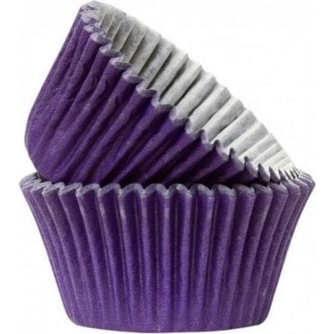 Purple 50 Muffin Cases -Professional Quality Baking Cases