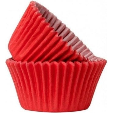 Red 50 Muffin Cases- Professional Quality Baking Cases