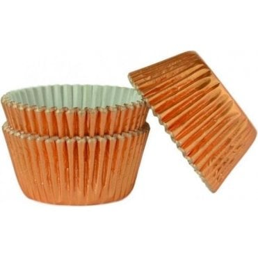 Rose Gold Foil 45 Muffin Cases -Professional Quality Baking Cases