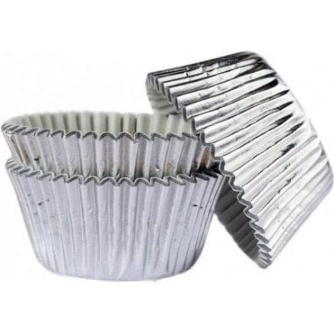 Silver Foil 45 Muffin Cases -Professional Quality Baking Cases