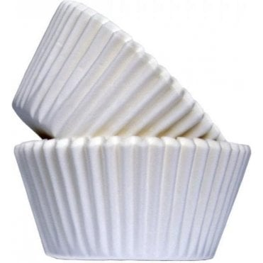 White 50 Muffin Cases- Professional Quality Baking Cases