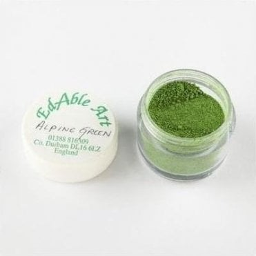 Alpine Green Lustre Dusting Colour 100% Edible