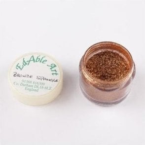 Bronze Spangle Shimmering Lustre Dusting Colour 100% Edible