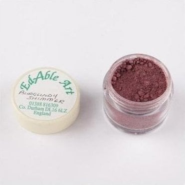 Burgundy Shimmering Lustre Dusting Colour 100% Edible