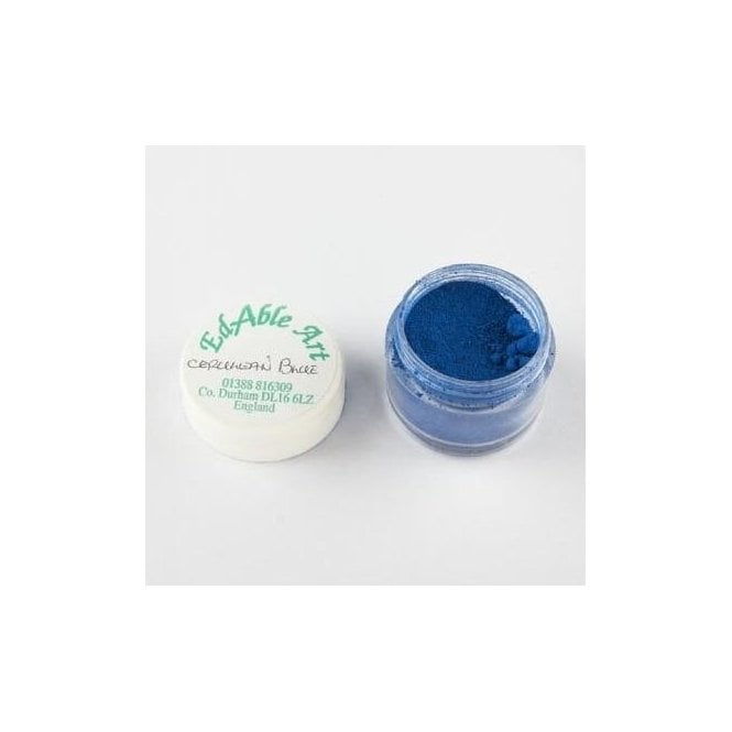 Edable Art Cerulean Blue Lustre Dusting Colour 100% Edible