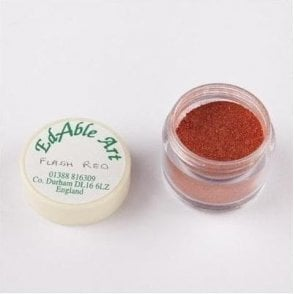 Flash Red Shimmering Lustre Dusting Colour 100% Edible