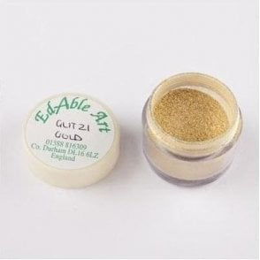 Glitzi Gold Shimmering Lustre Dusting Colour 100% Edible