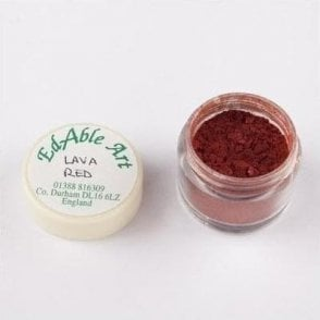 Lava Red Shimmering Lustre Dusting Colour 100% Edible