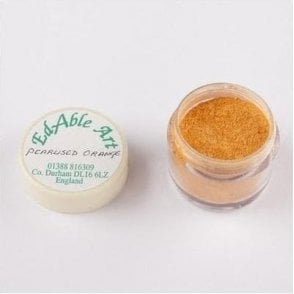 Pearlised Orange Shimmering Lustre Dusting Colour 100% Edible