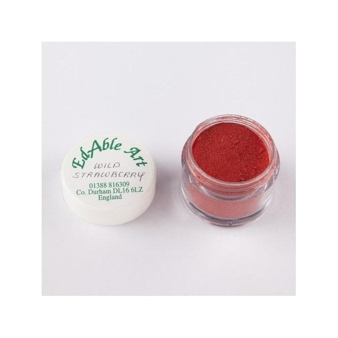Edable Art Wild Strawberry - Lustre Dusting Colour 100% Edible