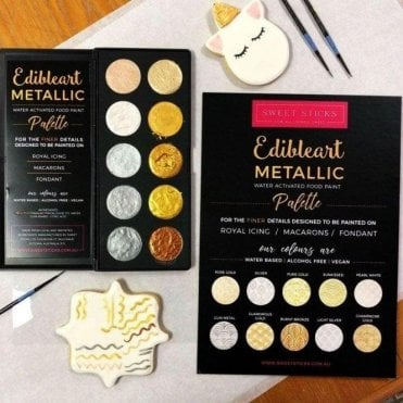 The Revolutionary Metallic Water Activated Paint Palette