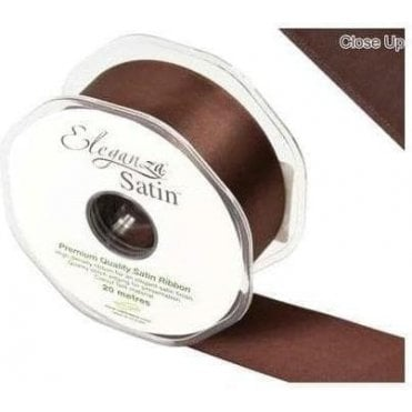 Chocolate - Double Faced Satin Ribbon - Choose Your Size