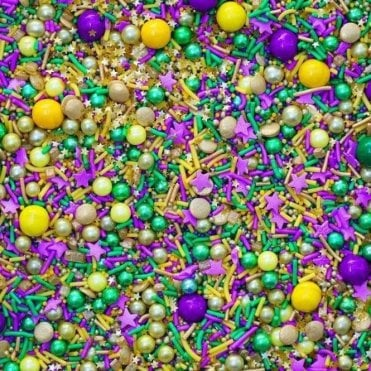 KING CAKE Decorative Metallic Sprinkle Medley 4oz/100g