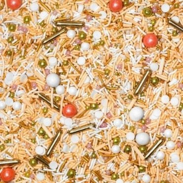 ROSE GOLD Decorative Metallic Sprinkle Medley 4oz/100g