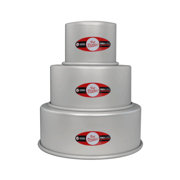 "Pro Series Round Anodised Baking Tins - 4"" Deep"