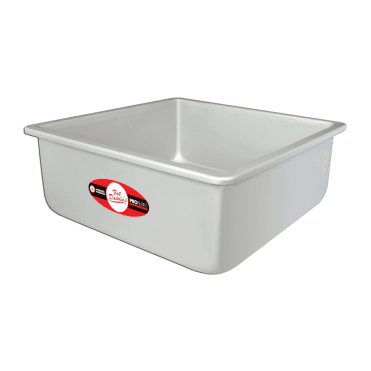 "Pro Series Square Anodised Baking Tins - 4"" Deep"