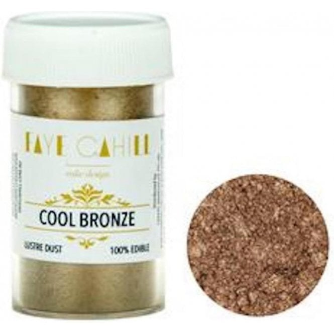 Faye Cahill Cool Bronze - 22ml Luxury Edible Lustre Dust Food Icing Colour