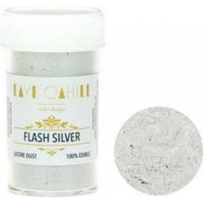 Flash Silver - 22ml Luxury Edible Lustre Dust Food Icing Colour