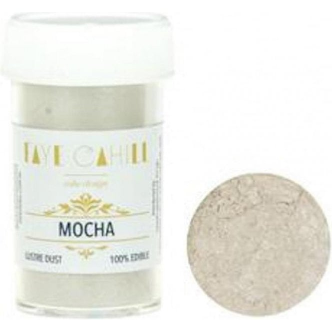 Faye Cahill Mocha - 22ml Luxury Edible Lustre Dust Food Icing Colour