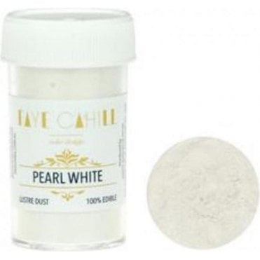 Pearl White - 22ml Luxury Edible Lustre Dust Food Icing Colour